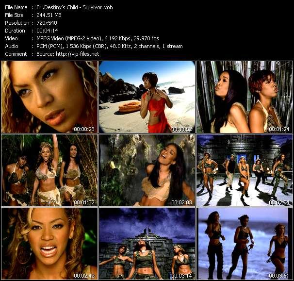 Screenshot of Music Video Destiny's Child - Survivor