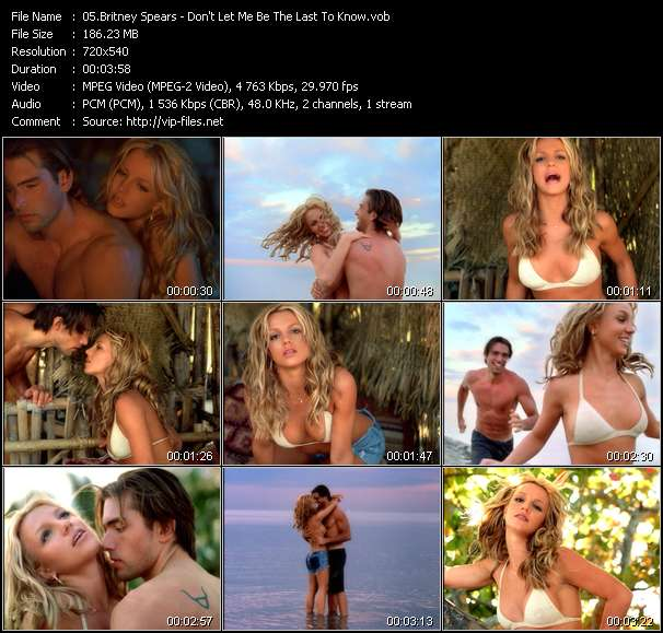 Screenshot of Music Video Britney Spears - Don't Let Me Be The Last To Know