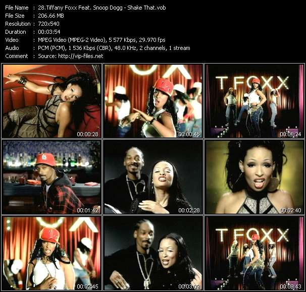 Screenshot of Music Video Tiffany Foxx Feat. Snoop Dogg - Shake That