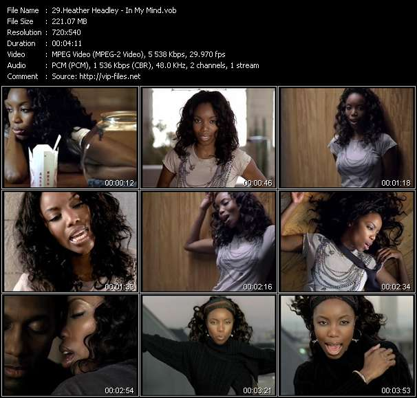 Screenshot of Music Video Heather Headley - In My Mind