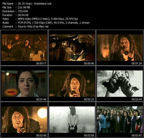 Screenshot of Music Video 10 Years - Wasteland
