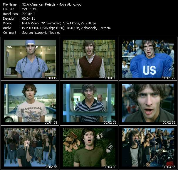 Screenshot of Music Video All-American Rejects - Move Along