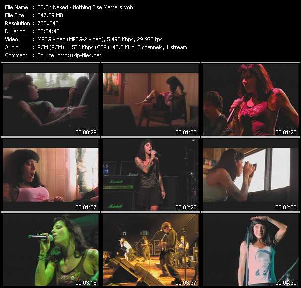 Screenshot of Music Video Bif Naked - Nothing Else Matters