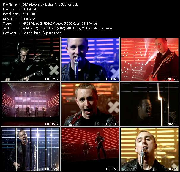 Screenshot of Music Video Yellowcard - Lights And Sounds