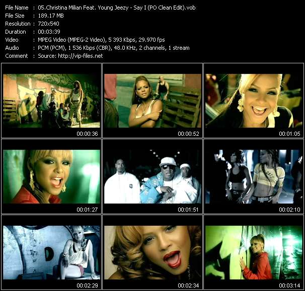 Christina Milian Feat. Young Jeezy video vob