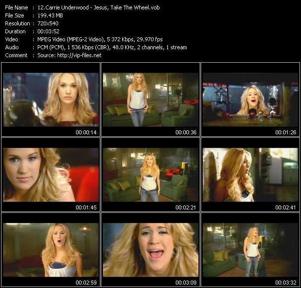 Carrie Underwood clips musicaux vob