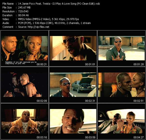 Jamie Foxx Feat. Twista video vob