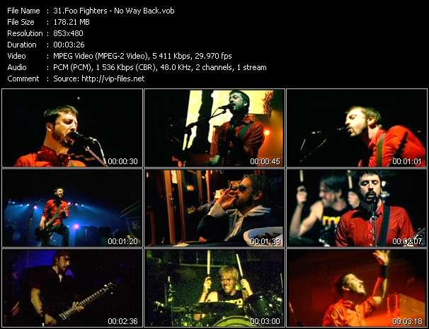 Screenshot of Music Video Foo Fighters - No Way Back