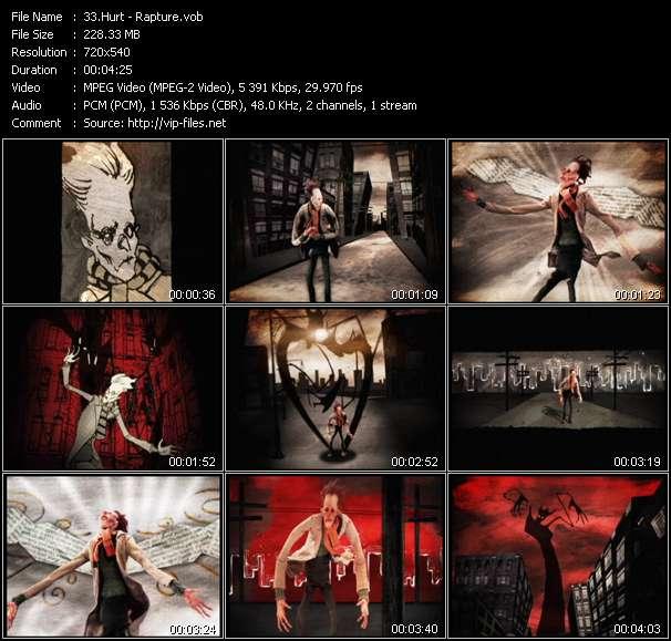 Screenshot of Music Video Hurt - Rapture