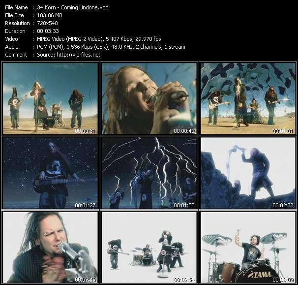 Screenshot of Music Video Korn - Coming Undone