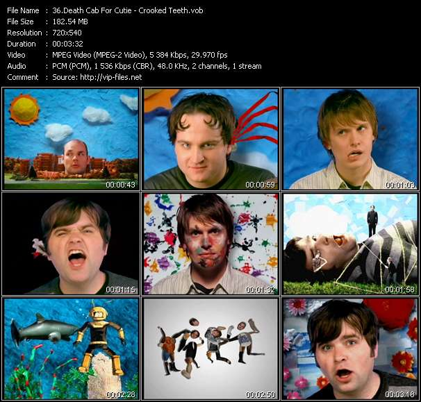 Screenshot of Music Video Death Cab For Cutie - Crooked Teeth