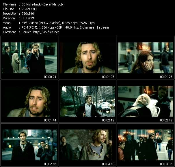 Screenshot of Music Video Nickelback - Savin' Me