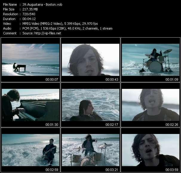 Screenshot of Music Video Augustana - Boston