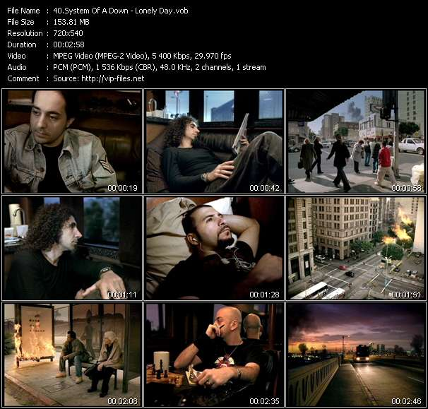 Screenshot of Music Video System Of A Down - Lonely Day