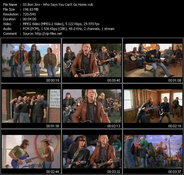 Bon Jovi video vob