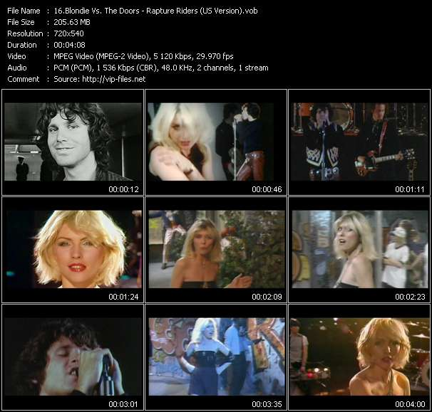 Blondie Vs. The Doors video vob