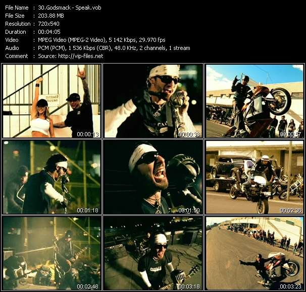 Godsmack video vob