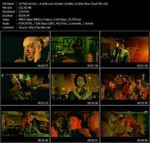 Fall Out Boy video vob