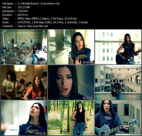 Michelle Branch video vob