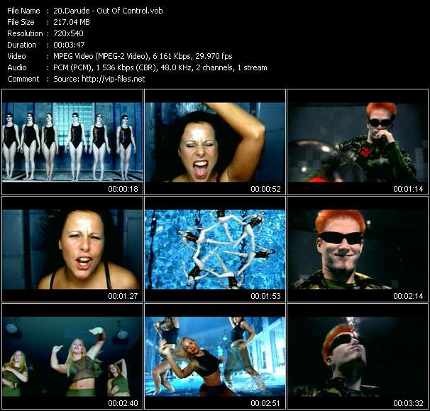 Screenshot of Music Video Darude - Out Of Control