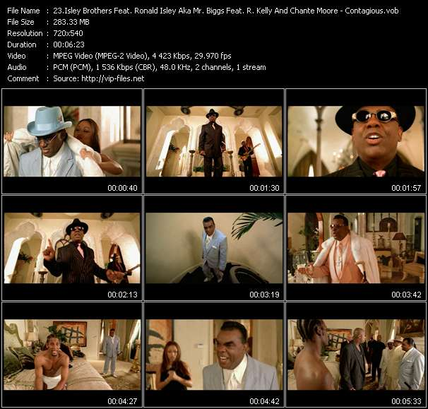 Screenshot of Music Video Isley Brothers Feat. Ronald Isley Aka Mr. Biggs Feat. R. Kelly And Chante Moore - Contagious