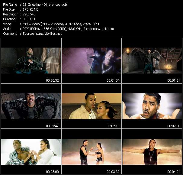Screenshot of Music Video Ginuwine - Differences