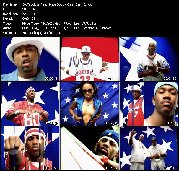 Screenshot of Music Video Fabolous Feat. Nate Dogg - Can't Deny It