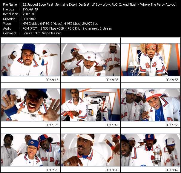 Jagged Edge Feat. Jermaine Dupri, Da Brat, Lil' Bow Wow, R.O.C. And Tigah video vob