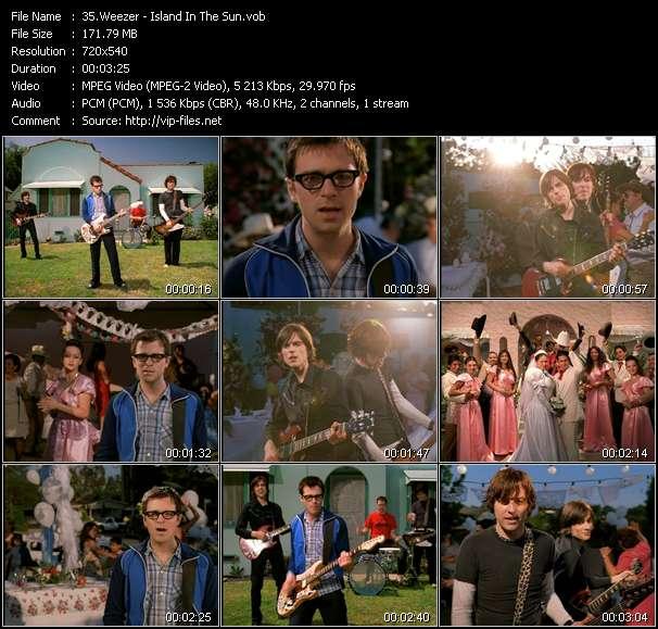 Screenshot of Music Video Weezer - Island In The Sun