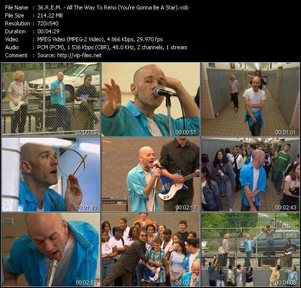 R.E.M. видеоклип vob
