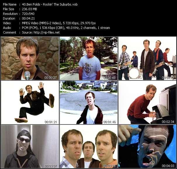 Screenshot of Music Video Ben Folds - Rockin' The Suburbs