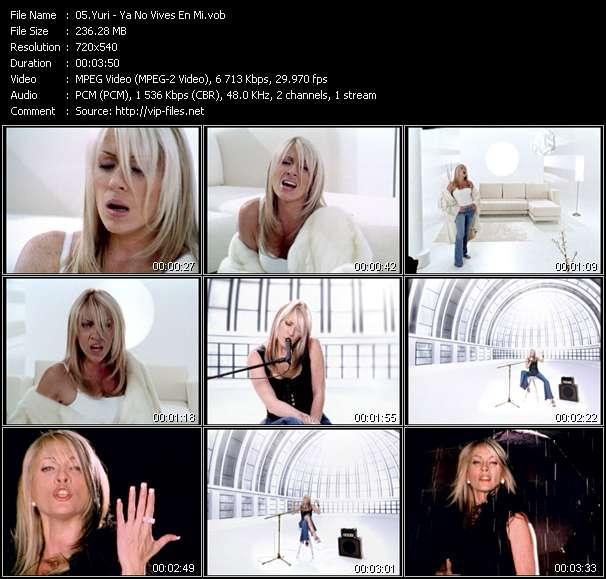Screenshot of Music Video Yuri - Ya No Vives En Mi