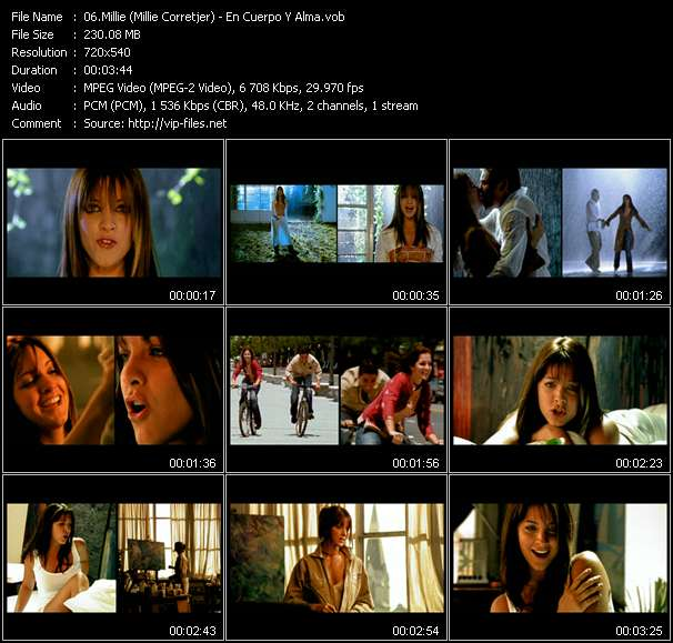Screenshot of Music Video Millie (Millie Corretjer) - En Cuerpo Y Alma