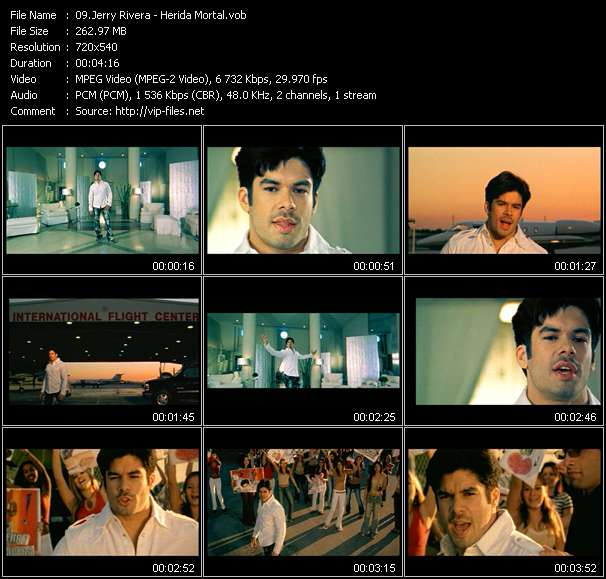 Screenshot of Music Video Jerry Rivera - Herida Mortal