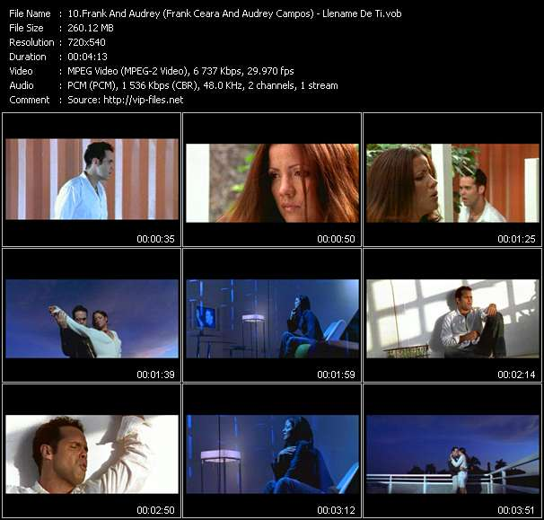 Screenshot of Music Video Frank And Audrey (Frank Ceara And Audrey Campos) - Llename De Ti