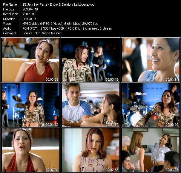Screenshot of Music Video Jennifer Pena - Entre El Delirio Y La Locura
