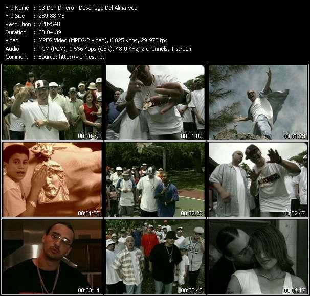 Screenshot of Music Video Don Dinero - Desahogo Del Alma