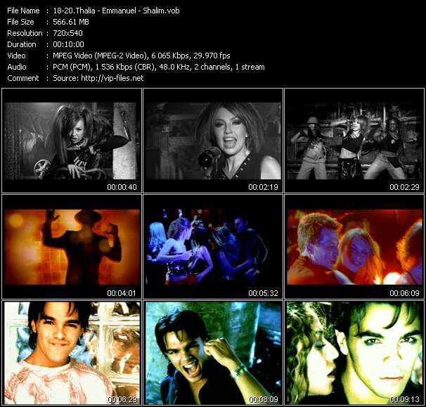 Screenshot of Music Video Thalia - Emmanuel - Shalim - A Quien Le Importa - Guajira (Roger Sanchez Remix) - Nadie Como Tu (Thunderpuss Radio Mix)