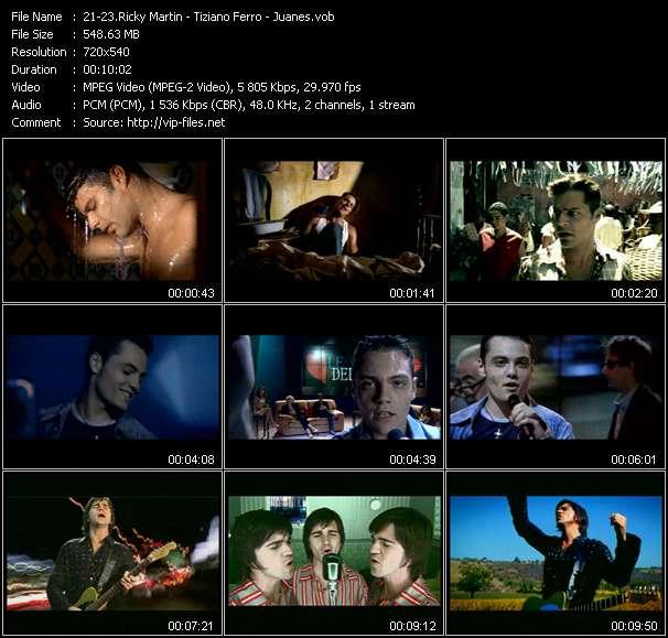 Screenshot of Music Video Ricky Martin - Tiziano Ferro - Juanes - Jaleo - Perdona - A Dios Le Pido