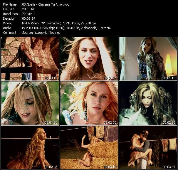 Screenshot of Music Video Noelia - Clavame Tu Amor