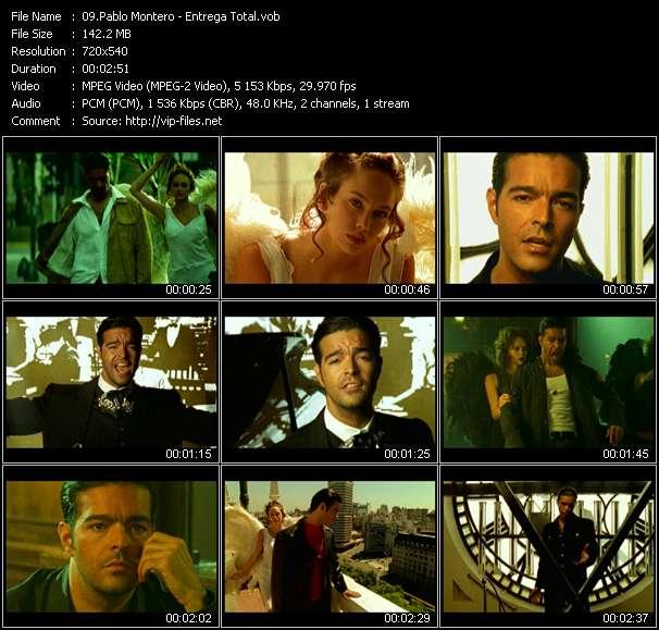 Screenshot of Music Video Pablo Montero - Entrega Total
