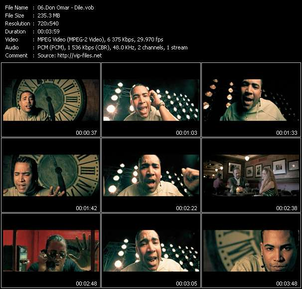 Don Omar clips musicaux vob