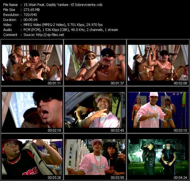 Screenshot of Music Video Wisin Feat. Daddy Yankee - El Sobreviviente