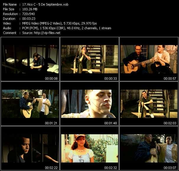 Screenshot of Music Video Vico C - 5 De Septiembre