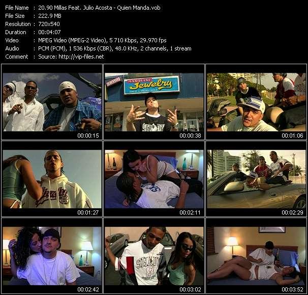 Screenshot of Music Video 90 Millas Feat. Julio Acosta - Quien Manda