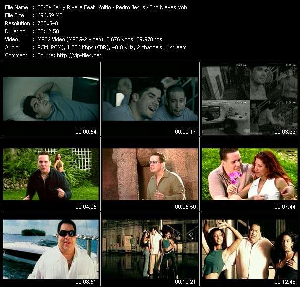Screenshot of Music Video Jerry Rivera Feat. Voltio (Julio Voltio) - Pedro Jesus - Tito Nieves - Mi Libertad - Mala, Mala - Un Amor Asi