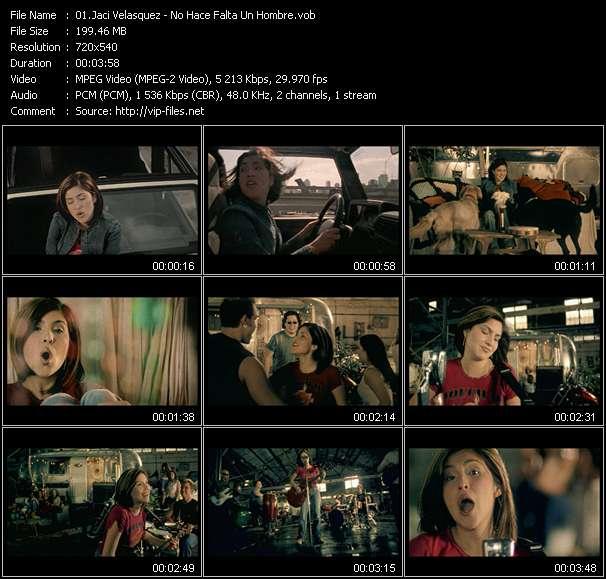 Screenshot of Music Video Jaci Velasquez - No Hace Falta Un Hombre