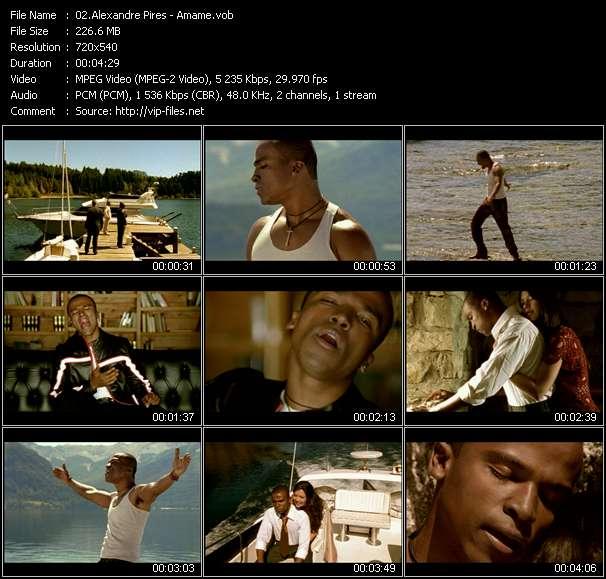 Screenshot of Music Video Alexandre Pires - Amame