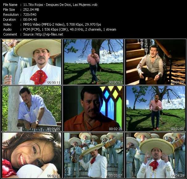 Screenshot of Music Video Tito Rojas - Despues De Dios, Las Mujeres