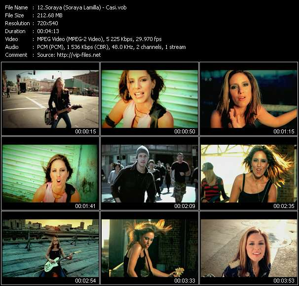 Screenshot of Music Video Soraya (Soraya Lamilla) - Casi